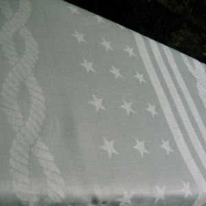 Rare WWII U. S. Navy Ropes & Stars Tablecloth